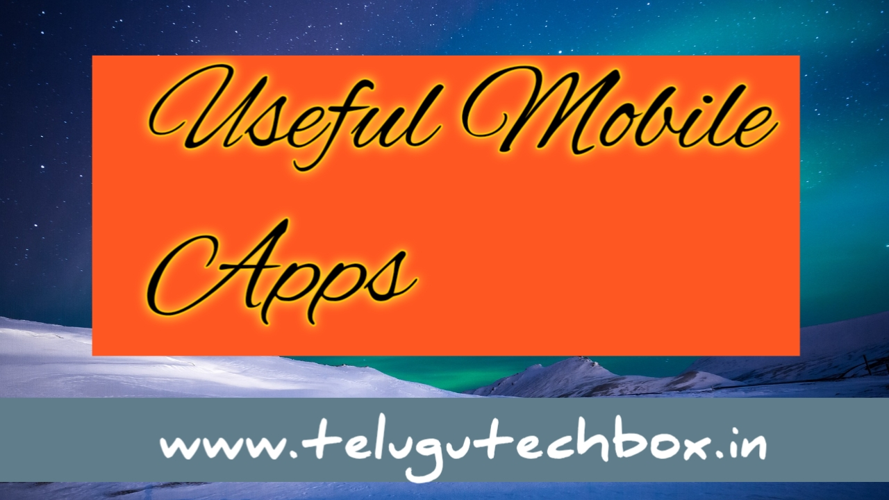 useful mobile apps