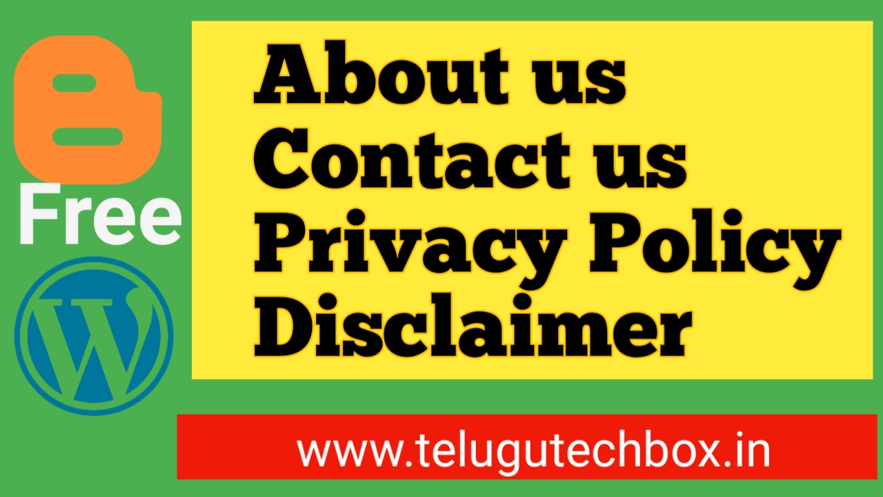 About contact privacy policy disclaimer