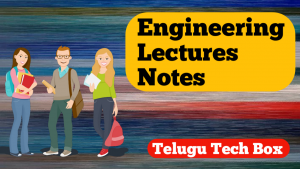 Engineering lecture notes
