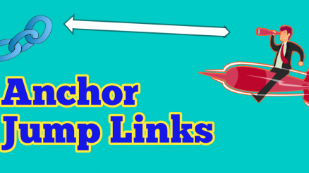 How to create the anchor jump links in WordPress and blogger Telugu